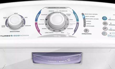 Manual de instruções da lavadora de roupas Electrolux 15Kg – LTD15