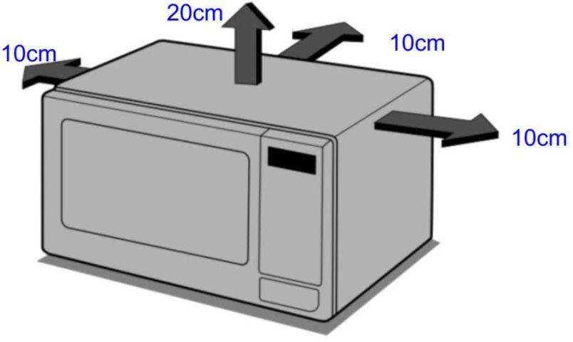 Local da Instalação do Microondas LG 30 litros Prata - MS3059L