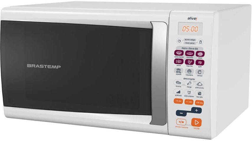 Medidas do Microondas Brastemp 30 Litros branco - BMS45