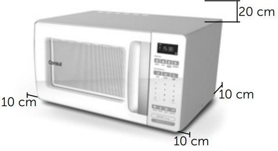 Local da Instalação do Microondas Consul 32 litros Branco - CMS45