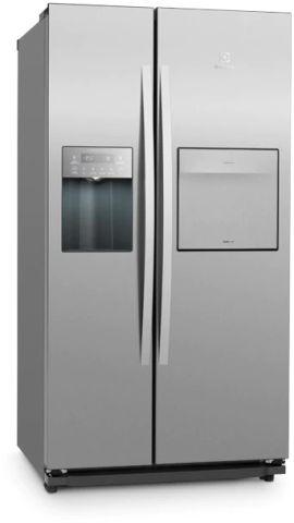 Medidas do Refrigerador Electrolux 670 litros Side by Side Inox - SH78X
