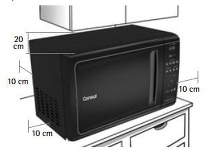Local da Instalação do Micro-ondas Consul 20 litros Mais com função tostex - CME20AZ
