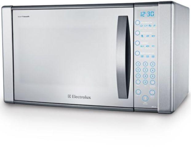 Medidas do Microondas Electrolux 31 litros Blue Touch Espelhado MEC41