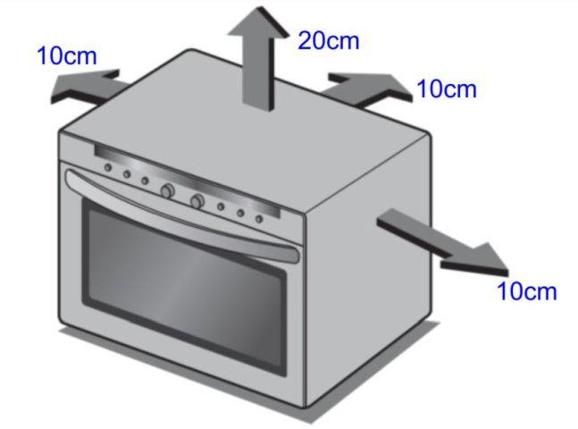 Local da Instalação do Forno com Microondas LG 38 litros - MA3884VC