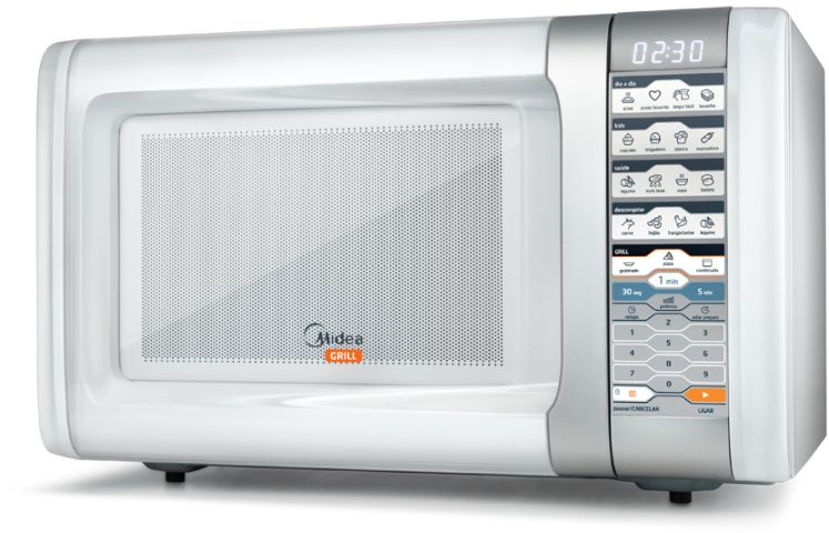 Medidas do Microondas Midea 30 litros Branco com Grill - MTAG4