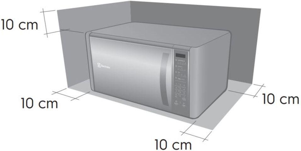 Local da Instalação do Microondas Electrolux 31 litros Grill - ME41X