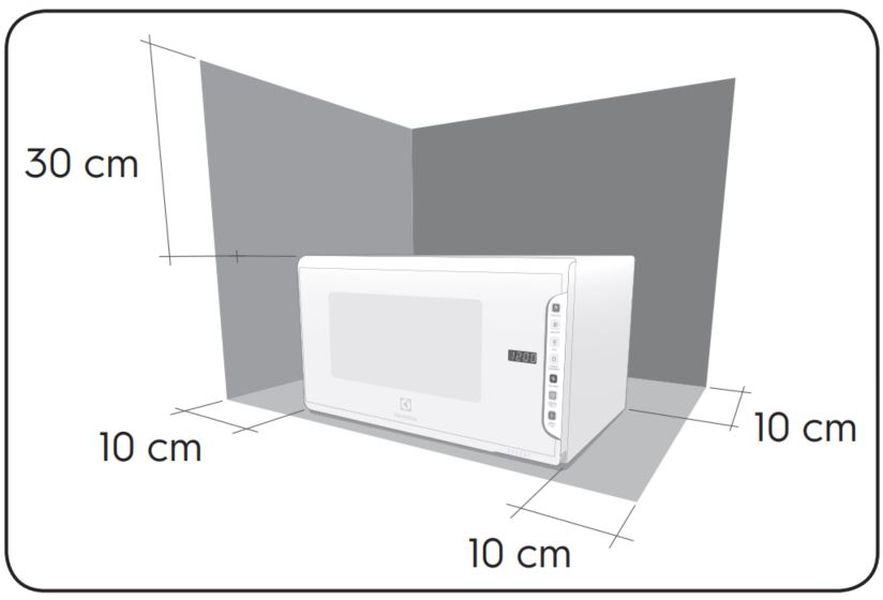 Local da Instalação do Microondas Electrolux 31 litros painel integrado MI41T