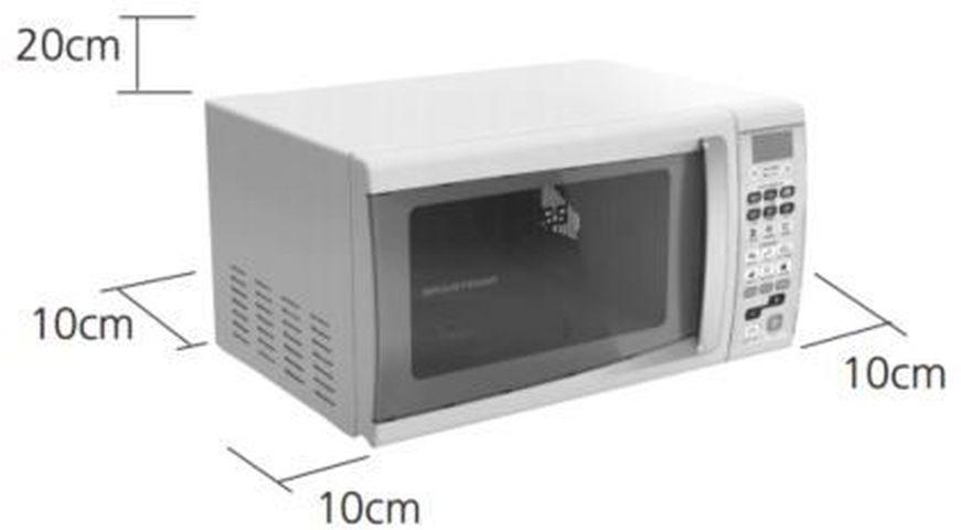 Local da Instalação do Microondas Brastemp 30 Litros branco - BMS45