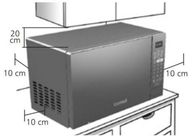 Local da Instalação do Microondas Consul 30 litros Com Grill - CMA30