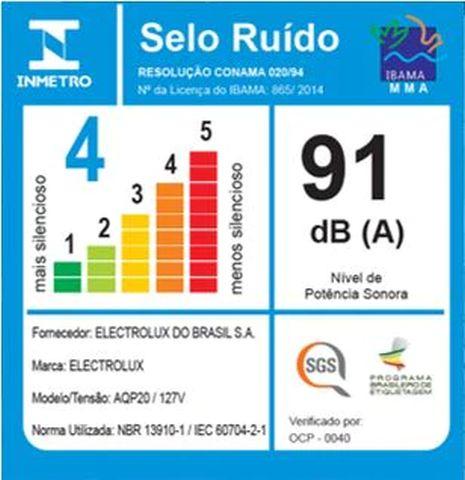 Aspirador de pó e água Electrolux - Ruido - AQP20