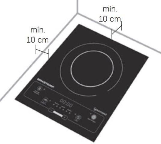 Instalação do cooktop de indução1 boca Brastemp