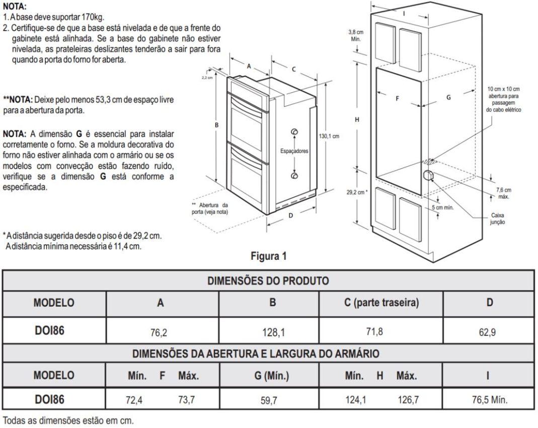 Instalação do forno de embutir Electrolux - DOI86