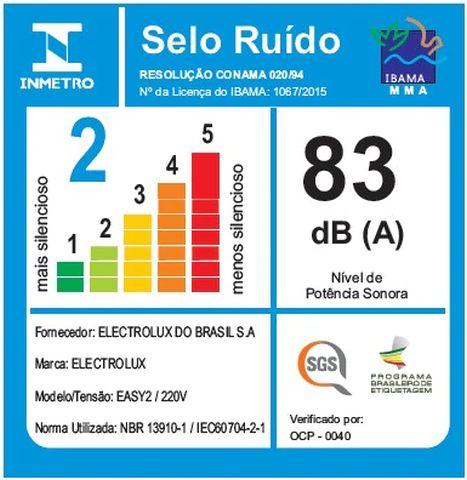 Aspirador de pó Electrolux - Ruido - EASY2