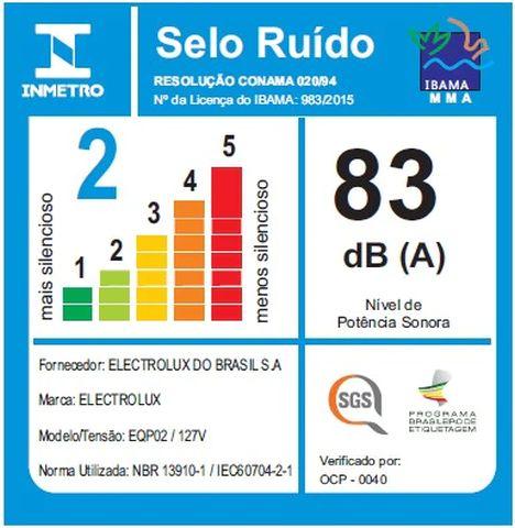 Aspirador de pó Electrolux - Ruido - EQP02