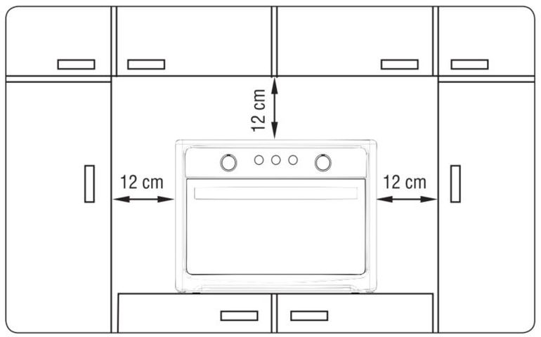 Instalação do forno de bancada Electrolux - FX54T