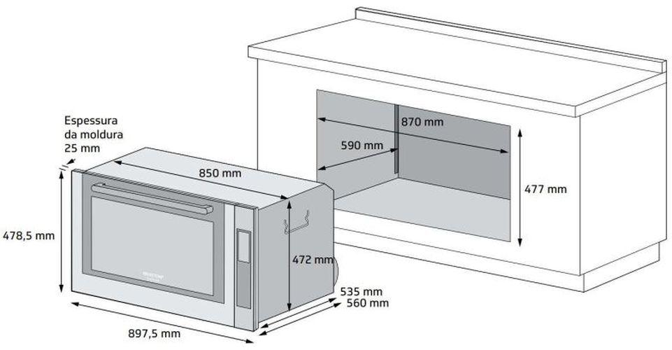 Instalação do forno de embutir Brastemp - BOC90