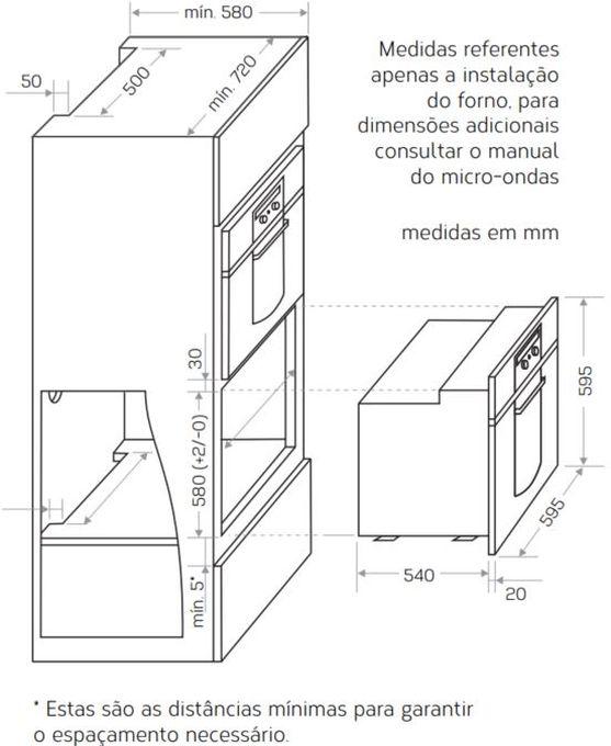 Instalação do forno de embutir Brastemp - GOC60 - opção 1