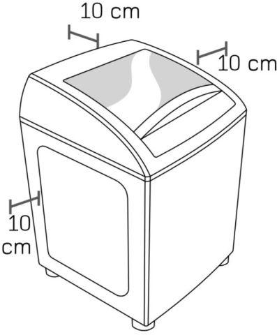 Lavadora de roupas Brastemp - Instalação - espaço ao redor da máquina