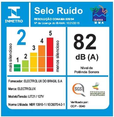 Aspirador de pó Electrolux - Ruido - LIT21