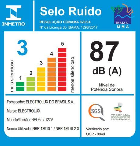 Aspirador de pó Electrolux - Ruido - NEO30