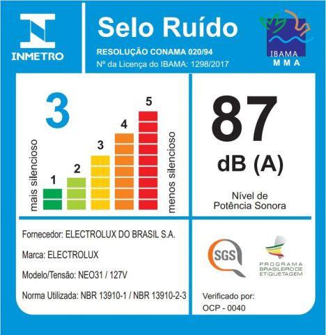 Aspirador de pó Electrolux - Ruido - NEO31