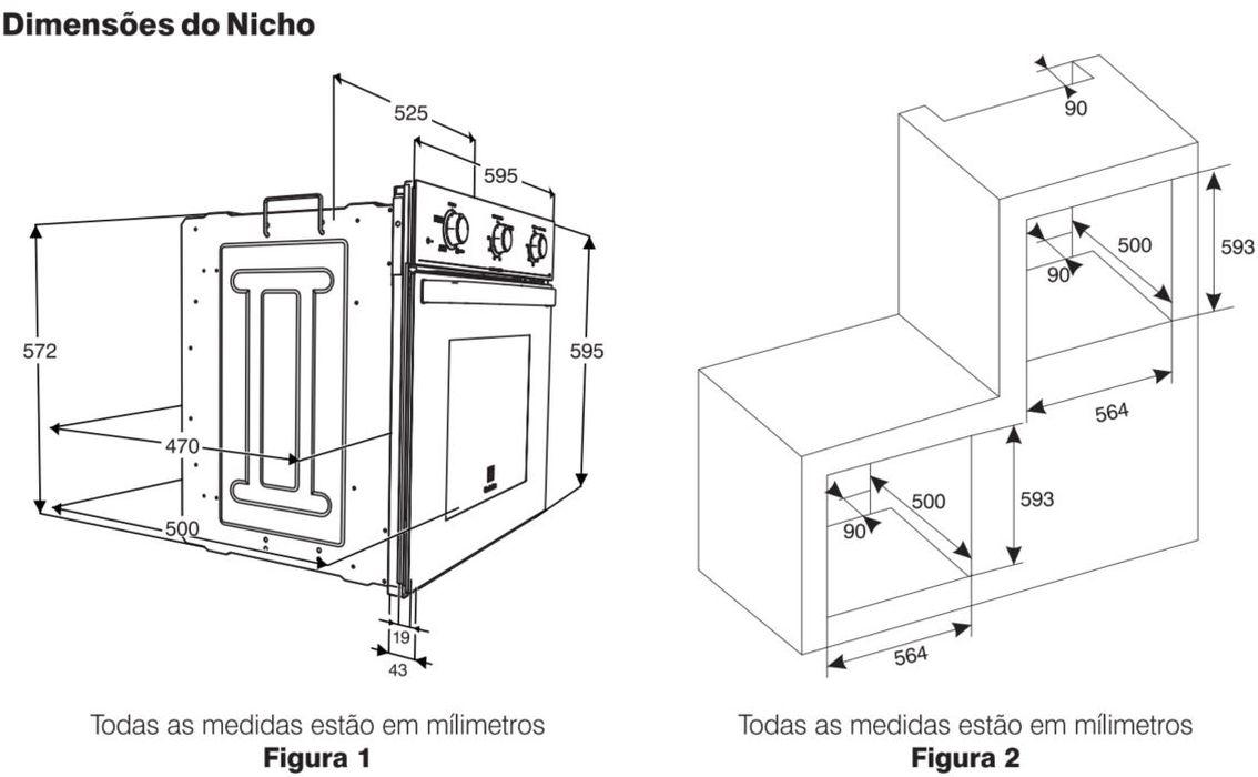 Instalação do forno de embutir Electrolux - OE60M