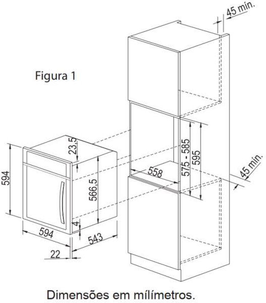 Instalação do forno de embutir Electrolux - OE9SX
