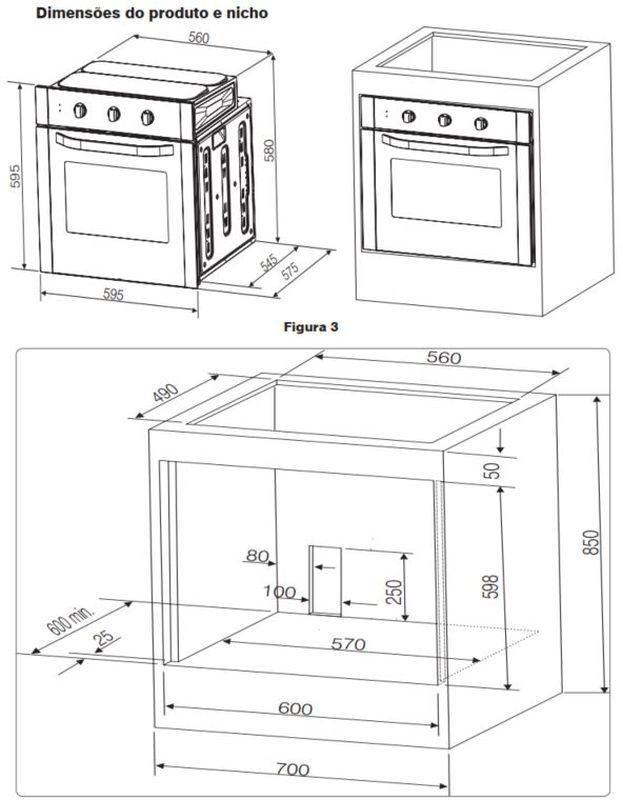 Instalação do forno de embutir Electrolux - OG8DX