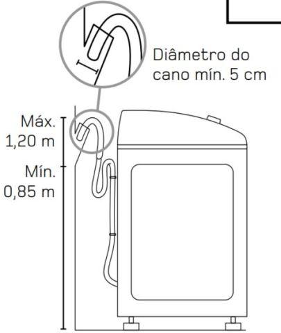 Lavadora de roupas Brastemp - Instalação - saída de água