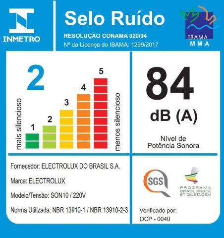 Aspirador de pó Electrolux - Ruido - SON10