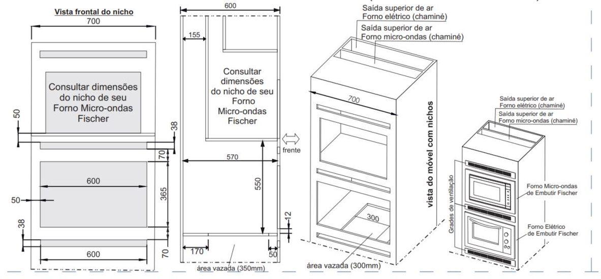 Instalação do forno de embutir Fischer Fit Line - Torre