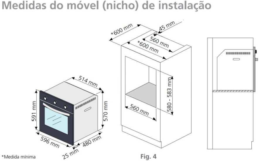 Instalação do forno de embutir Tramontina Glass Brasil B 60F3