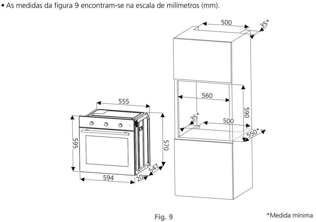 Instalação do forno de embutir Tramontina New Inox Cook 60F7 - 71 litros