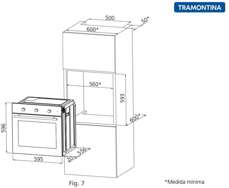 Instalação do forno de embutir Tramontina Inox Brasil Plus 60F3 - 70 litros
