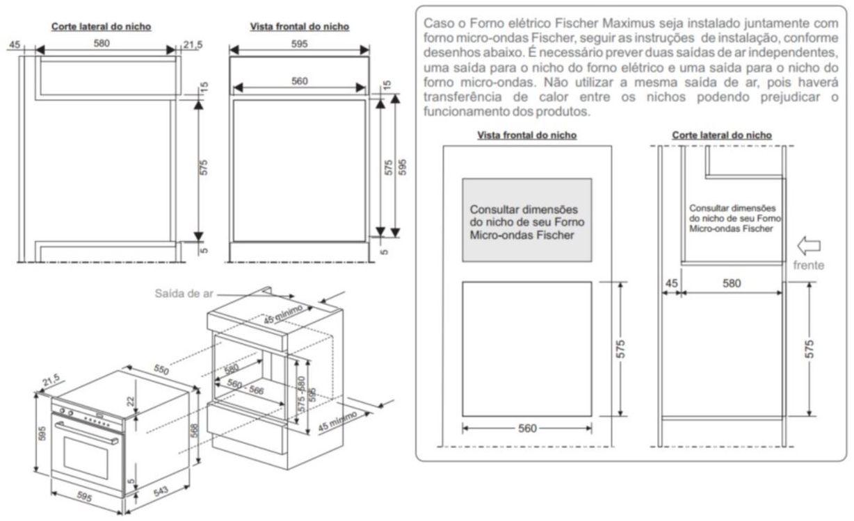 Instalação do forno de embutir Fischer - Torre
