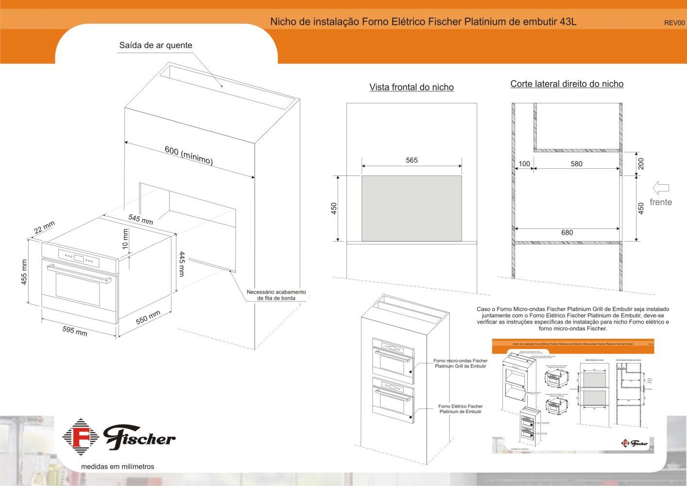 Instalação do forno de embutir Fischer Platinium
