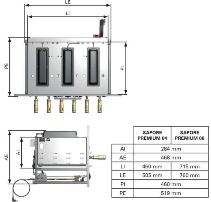 Medidas da churrasqueira a gás de embutir Arke - Sapore Premium-6