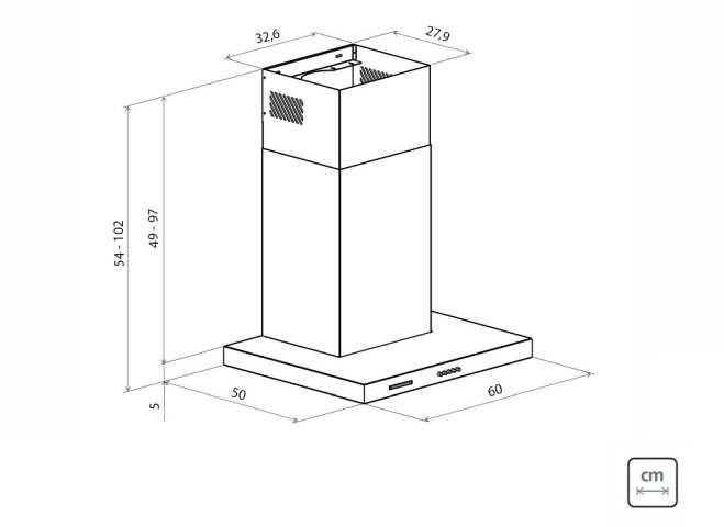 Dimensões do produto - New Dritta 60