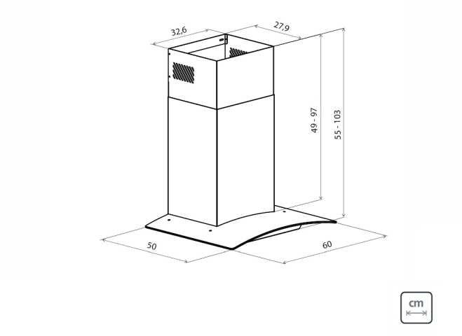 Dimensões do produto - New Vetro 60