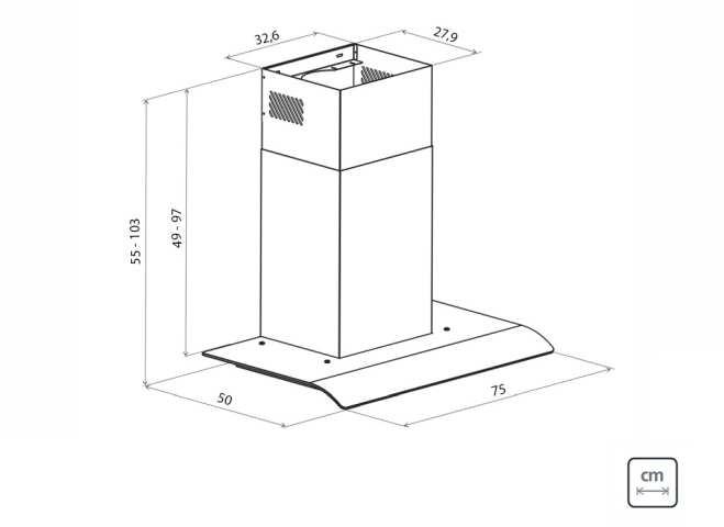 Dimensões do produto - New Vetro Flex 75