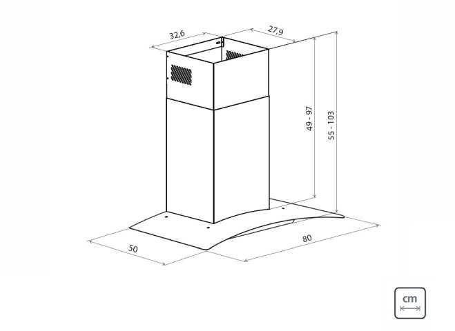 Dimensões do produto - New Vetro 80
