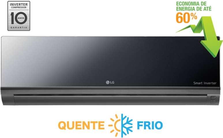 Medidas de Ar Condicionado LG - Artcool 9000 btus - Quente e Frio