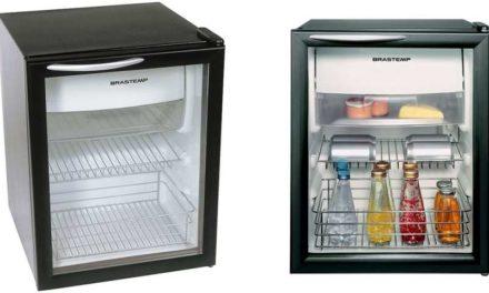 Manual de instruções do frigobar Brastemp 76L porta de vidro – BZA08