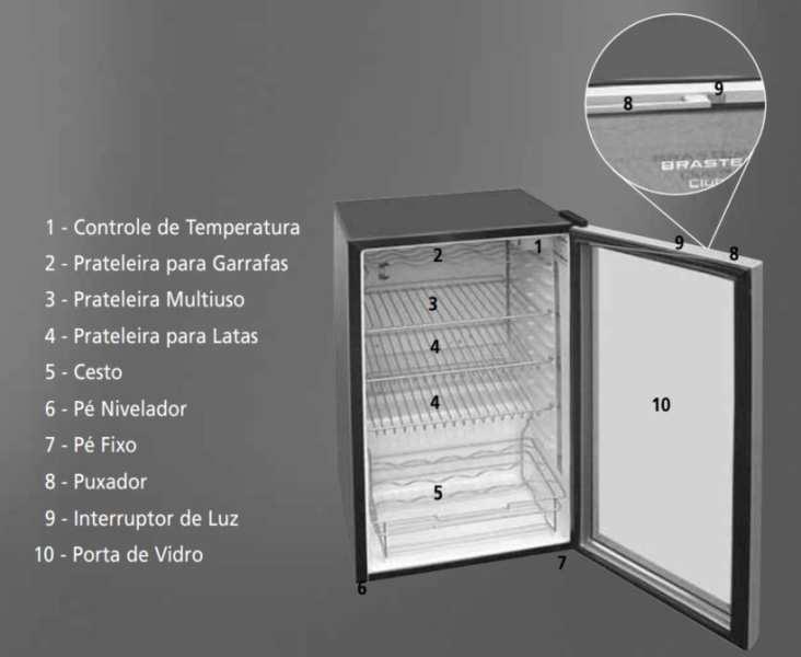 Medidas de Frigobar Brastemp 120 litros - BZA12AF