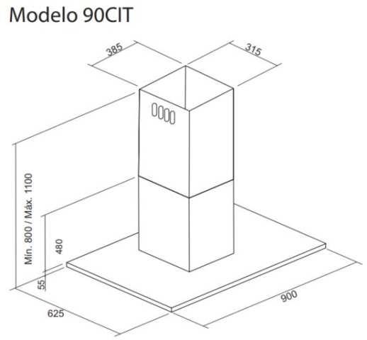 Dimensões do produto - 90CIT
