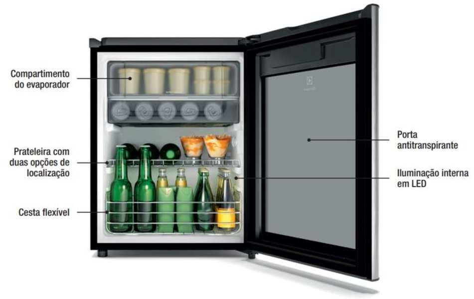 Medidas de Frigobar Electrolux 79 litros - RV80
