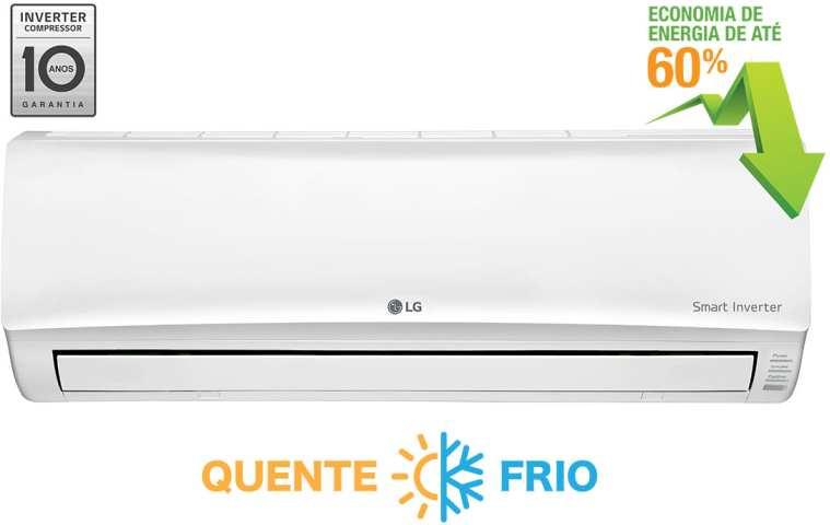 Medidas de Ar Condicionado LG - 9000 btus - Quente e Frio