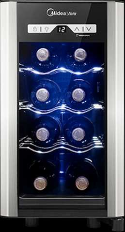 Medidas de geladeira de vinhos Midea - WBB08