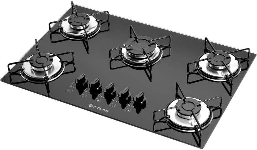 Medidas de Cooktop Atlas Agile 5 queimadores Mega Chama