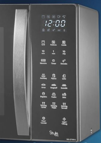 Como ajustar o relógio do micro-ondas Panasonic - GT696